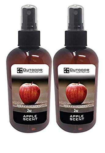 Outdoor Hunting Lab Apple Deer Cover Scent Nose Blocker Buck Lure Spray - Whitetail Deer Hunting Attractant Food Smell 2 oz (2 Bottles)