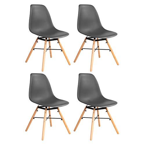 1er-Set 1 Wohnzimmer Stuhl Esszimmerstuhl Bürostuhl Plastikstuhl Rückenlehne(1 Stuhl)