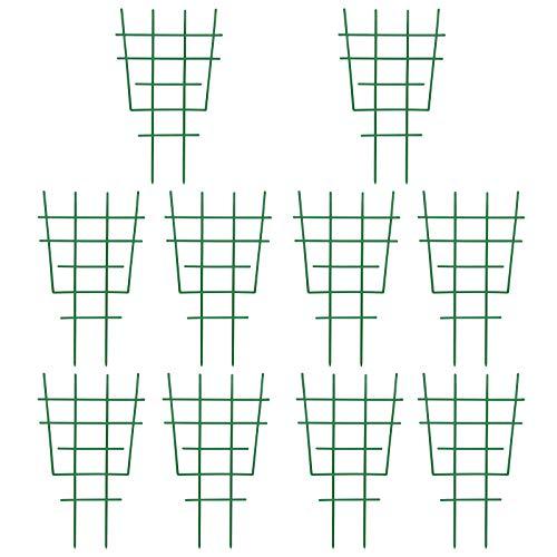 Fittoway Mini Pflanzenstütze DIY Garten Rankhilfe für Kletterpflanzen Pflanzenklettergitter und Reben Kunststoff-Pflanzen-Spalier Topfpflanzenstütze Pflanzenunterstützung (10 Stück)