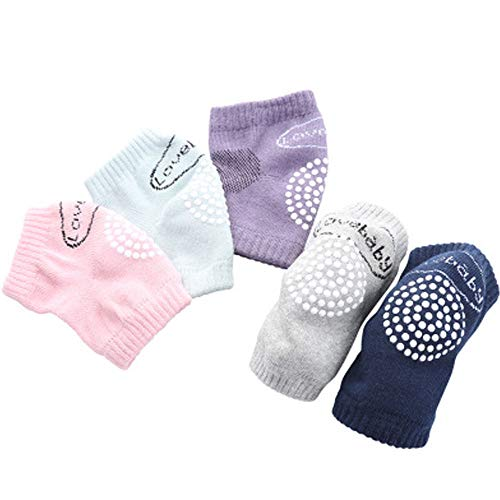 ysister ysister 5 Paar Baby Knieschoner Sicherheit Schutz Unisex Baby Anti-Rutsch Kneepads für 0-36Monate infant toddler elbow warm crawling safety protective knee pads