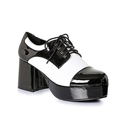 "Mens Freddy 1970s Platform 3"" Black & White Shoes size Large 12-13 by Ellie Shoes"