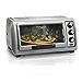 Hamilton Beach Countertop Toaster Oven Easy Reach with Roll-Top Door, 6-Slice & Auto Shutoff, Silver (31127D) (Renewed)