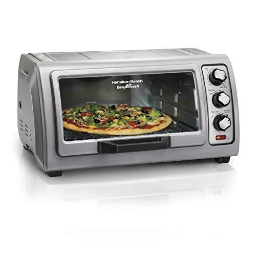 Hamilton Beach Countertop Toaster Oven Easy Reach with Roll-Top Door, 6-Slice & Auto Shutoff, Silver (31127D) (Renewed) -  31127D-cr