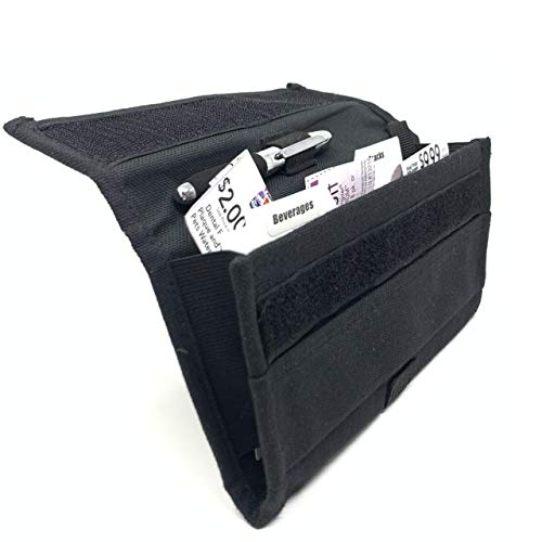 Modern Grocery Coupon Organizer for Purse - Wallet & Extreme Coupon Holder. Set Includes 24 Plastic Coupon Cards Dividers and Stickers. High Grade Canvas (BLACK)