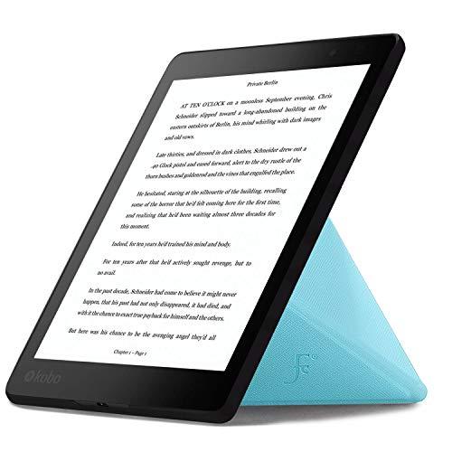 Forefront Cases Kobo Aura One 7.8 Zoll Origami Hülle Schutzhülle Tasche Bumper Folio Smart Case Cover Stand - Ultra Dünn Leicht Rundum-Geräteschutz - Smart Auto Schlaf Wach (HELL BLAU)