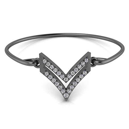 Jbr Chevron Heráldica Pulsera de plata de ley Pulsera de regalo para novia esposa con caja de joyería