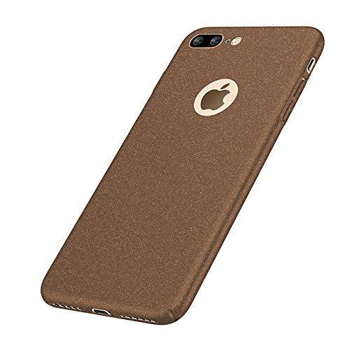VELLYOU [2-in-1] iPhone 7 Matte Funda Ultra-Delgado 0.7mm + Regalo [9H Transparent Vidrio Templado], Carcasa 360°Anti-Deslizante Anti-Rasguño Totalmente Protegido Case Cover para Apple7,4.7' Marrón