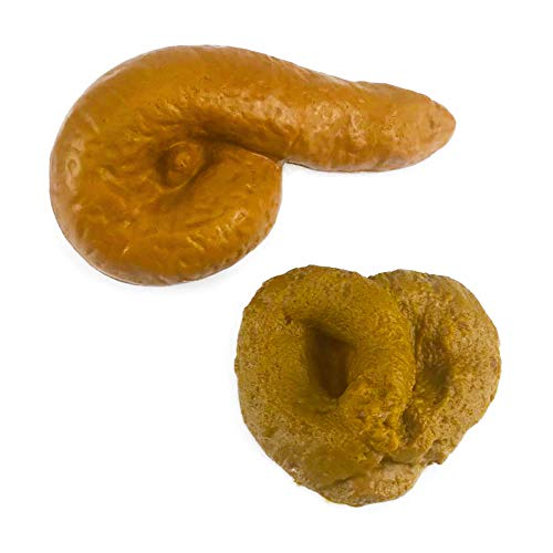 Nakimo Fake Poop Prank Funny Poop Toys Gag Gift Realistic Mischief Novelty Toys for Joke Trick Halloween April Fool 's Day Party, Pack of 2
