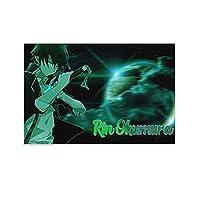 ブルーエクソシストアニメキャンバスアートポスターとウォールアートピクチャープリントモダンファミリーベッドルームインテリアポスター16×24インチ(40×60cm)