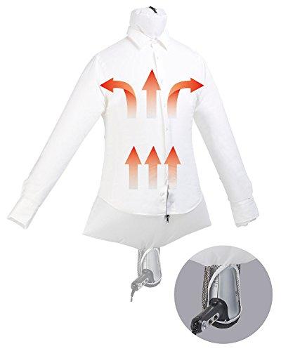 Sichler Haushaltsgeräte Reisebügelpuppe: 2in1-Reise-Bügelpuppe mit Haartrockner-Aufhängung, trocknet & glättet (Hemden Bügeln)