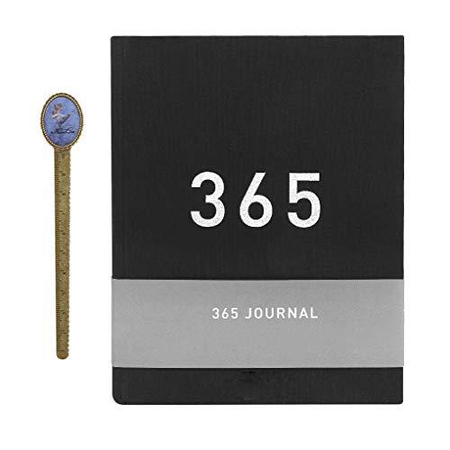 Agenda giornaliera da 365 giorni con pagine vuote numerate per pianificare un giorno, quaderno in formato A5, per costruire abitudini di vita positive, diario di gratitudine, diario fai da te