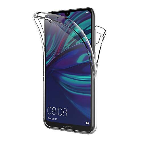 AICEK Hülle Compatible Huawei Y7 2019 360°Full Body Transparent Silikon Schutzhülle für Huawei Y7 2019 Hülle Durchsichtige TPU Bumper Y7 2019 Handyhülle (6,26 Zoll)