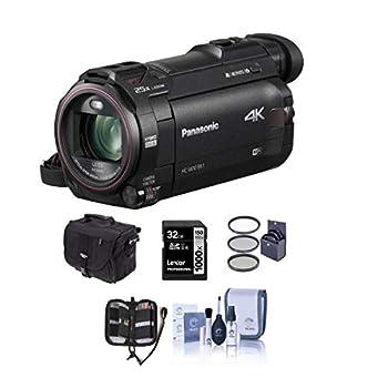 Panasonic HC-WXF991K 4K UHD Camcorder 20X Leica DICOMAR Lens Bundle kit with Video Bag + 32GB SDHC Card + 49mm Filter Kit + Memory Card Wallet +ProOptic Cleaning Kit