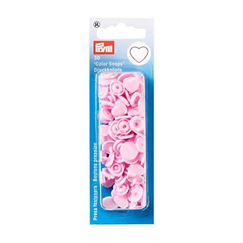 Color Snaps Druckknöpfe, Herz, rosa, 30 Stück