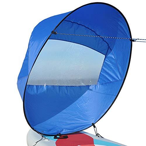 FYBlossom Kajak Wind Segel Kit, 42 Zoll Kajak Windsegel Tragbar Kanus Popup Downwind Segel Mit Aufbewahrungstasche Faltbar Segel Für Windsurfen Einfaches Setup Schnell Einsetzbar