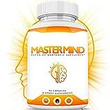 MASTERMIND Brain Enhancement For Men & Women – Limitless Nootropic Supplement - Enhanced Concentration, Memory, Focus, Neuro, Energy, Anti Anxiety w/ NZT, DMAE, St. John's Wort, Huperzine - 1 Month CT