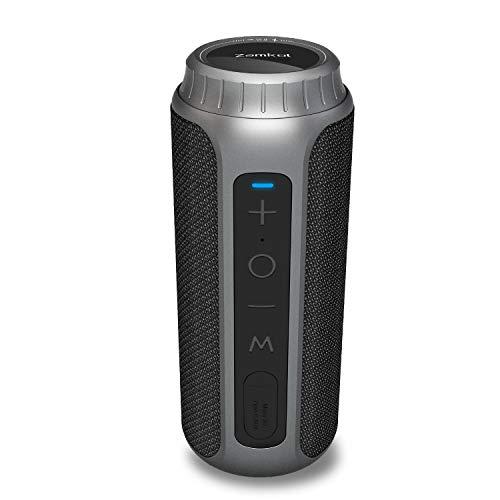 Bluetooth Lautsprecher, Zamkol 30W kabelloser Lautsprecher Wasserdichter IPX6 Tragbarer Bluetooth 5.0, 360° TWS Stereo Sound, Bis zu 15 Stunden Kabellos Musik Abspielen,Eingebautes Mikrofon