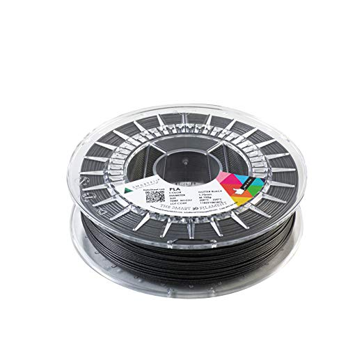 SMARTFIL PLA, 1.75 mm, GLITTER BLACK, 750 g Filament for 3D Printing by Smart Materials 3D