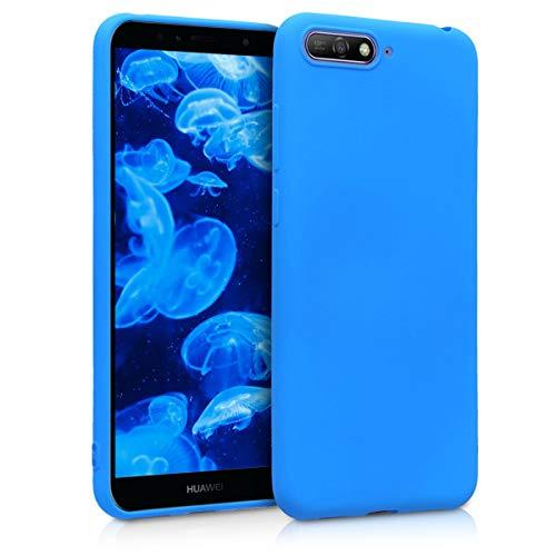 kwmobile Hülle kompatibel mit Huawei Y6 (2018) - Handyhülle - Handy Hülle in Neon Blau