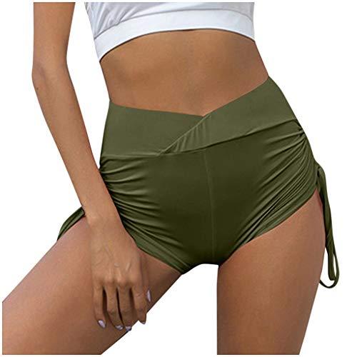 cinnamou Damen Sexy Hotpants Sport Kurz Short Sporthose Sport Shorts Jogginghose Unterwäsche Sommer Sexy Eng High Waist Yoga Fitness