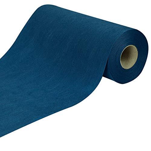 Sensalux Nature Tischläufer, Tischband, Vlies, CO²-neutrale Produktion, Ihr grüner Fußabdruck - 0,3m x 25m Royalblau