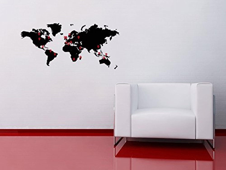 60 Second Makeover Makeover Makeover Limited Weltkarte Wandtattoo mit Zeigern Atlas Globe Aufkleber Home Décor Büro Shop Reisen Länder Mattes schwarz B00M80EEN4 77862b