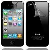 MOFRED -Screen Protector de Pantalla para Apple iPhone 4/iPhone 4S 16GB y 32GB–Parte Delantera y Trasera Protectores de Cuerpo Completo Paquete de Valor (6Protectores Traseros)