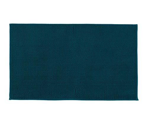 Gözze Mikrofaser Badteppich, 70 x 120 cm, Chenille, Petrol, 1037-5826-070120