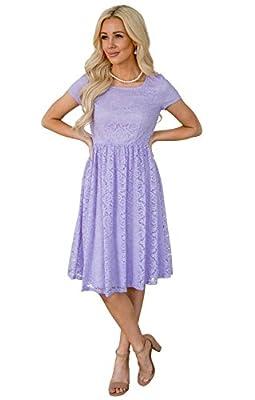 Jen Clothing Jenna Modest Lace Dress, Modest Bridesmaid Dress Or Modest Prom Dress