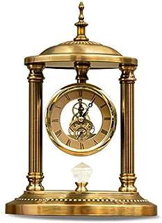 Klockor skorsten Metall Romerska siffror Väggklocka - Kaffe Loft Mute Väggklocka Tick-Free dekorativt kök sovrum