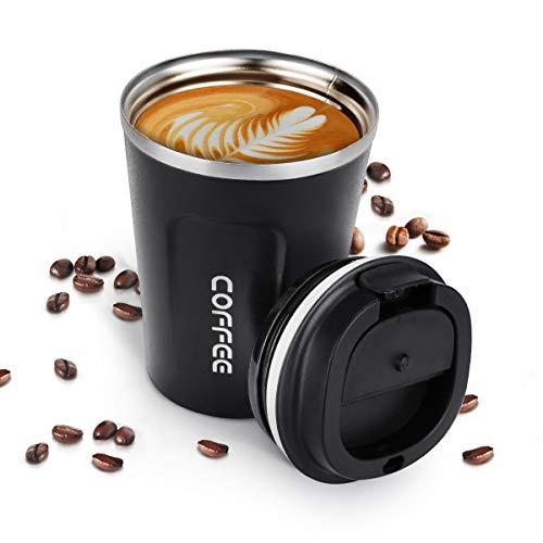 welltop Tazza di caffè Riutilizzabile, Tazza da Viaggio da da 380 ml / 13 Once Tazza da caffè a Doppia Parete Bevanda Calda Boccetta da caffè a Tenuta stagna