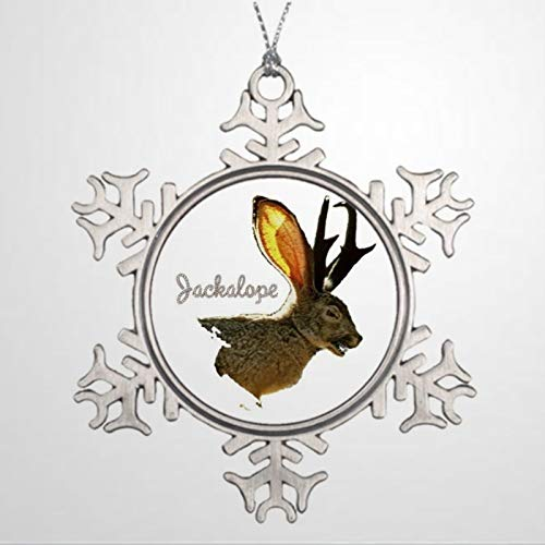 BYRON HOYLE Christmas Tree Ornaments Jackalope Snowman Ornament Christmas Snowflake Ornaments Xmas Decor Wedding Ornament Holiday Present