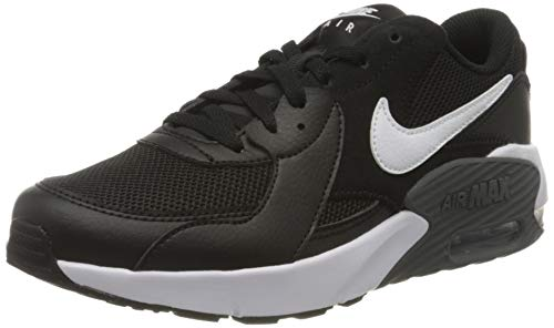 Tênis casual Nike Air Max Excee Big Kid, Black/White, 3.5