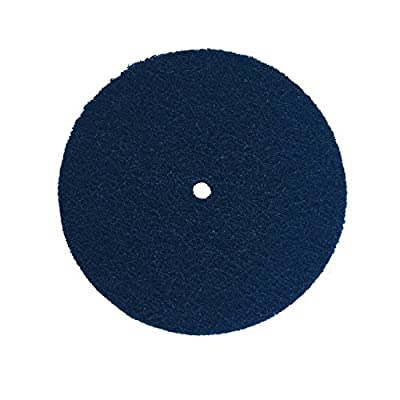 "Renegade Products 9"" Diameter Surface Prep Buff and Blend Disc (2-Ply) Medium Blue 150-180 Grit Finish for Sanding & Polishing Aluminum & Stainless Steel"