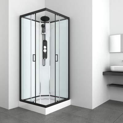 Azura Home Design - Cabina de ducha Kineai II sin techo, 90...