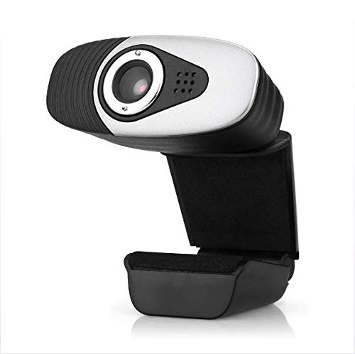GTJXEY Webcam, HD 1080P Webcam con Flexible Bending Clip Incorporata 10M Fonoassorbenti Microfono Supporto di Windows 2000 / XP / Win7 / Win8 / Vista 32Bit, Android TV