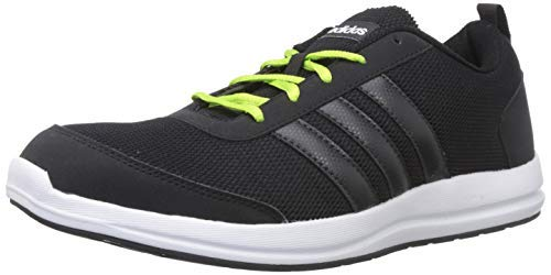Adidas Men's HYPERON M CBLACK/Carbon/SSLIME Running Shoes-9 UK/India (43 EU) (CK9511_9)