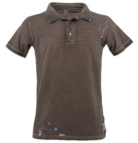 Bob Polo-Shirt braun Ricky mit XL-Stickerei