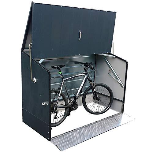 tepro Outdoor Fahrradbox in anthrazit Terrasse Außen Camping 7170