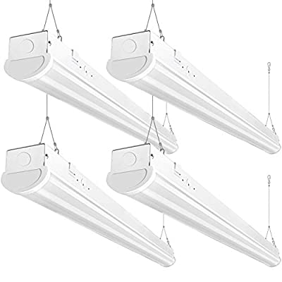 Bbounder 8FT LED Shop Light, 72W, 8400 Lumen, 5000K Daylight, 8 Foot LED Linear Fixtures for Garage, Workshop, Warehouse, Not Dimmable, ETL Certified, 4 Pack