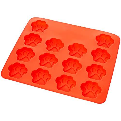 AmazonBasics - Molde de silicona con diseño de huella de perro