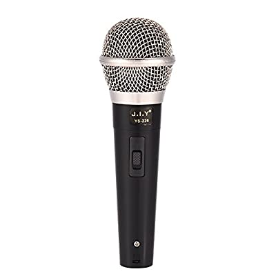 Tihebeyan Handheld Professional Wired Dynamic Microphone Clear Voice for Karaoke Vocal Music Performance, Handheld Mic with On/Off Switch