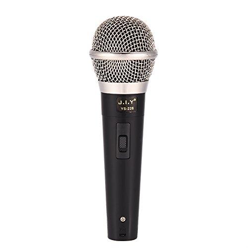 Micrófono con Cable, Micrófono Dinámico Profesional de Fidelidad Alta, Micrófono Alámbrico de Mano con Cable de Audio, Reducción de Ruidos y Transmisión de Frecuncia Suave