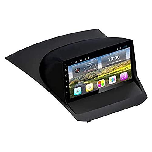 Android 9.0 Car Stereo para Ford Fiesta 2009-2017 9 pulgadas HD Pantalla táctil Navegación GPS Reproductor multimedia Receptor con Mirror Link FM AM Teering Control del volante, 4 núcleos 4G + WiFi: