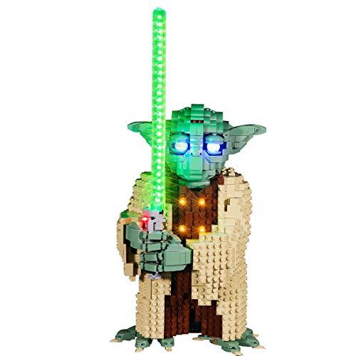 WEEGO Kit de iluminación LED para Lego Star Wars Yoda, Juego de luces compatible con Lego 75255 Bloques de Construcción- Solo luz LED