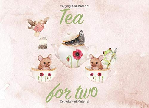 Tea For Two: Twins Guest Book | Baby Showers and Birthday Parties | Gentle watercolor drawings | Gender neutral colors | 250 guests and their messages and best wishes