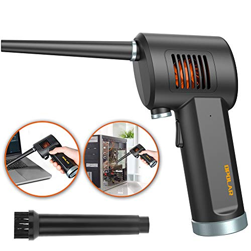 Compressed Air Duster, New Generation Canned Air, 33000 RPM Electric Air Can for Computer Keyboard Electronics Cleaning, 6000mAh Rechargeable Battery, Reusable Dust Destroyer