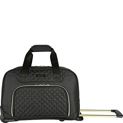 kensie 19' Rolling Fashion Duffel Tote, Black with Gold Color Option
