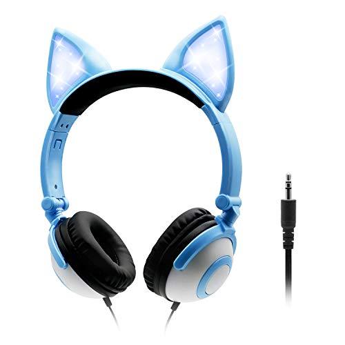 Auriculares para niños orejas de gato