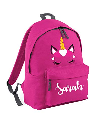 Personalised Unicorn Backpack School Bag - Unicorn Gifts for Girls - Custom Name School Bag Girl